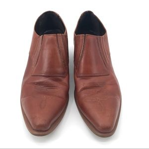 GUC Durango Brown Leather Western Ankle Boots 10M